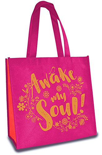 Awake My Soul 12 x 12 Inch Reusable Eco-Friendly Tote Bag Pack of 6 by Divinity Boutique
