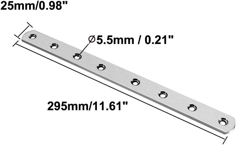 uxcell Repair Plate Pack of 1 295mmx25mm Flat Fixing Mending Corner Brace Bracket Connector