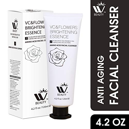 WBM Facial Cleanser With Amino Acid | Perfect Anti-Aging, Skin Brightening And Wrinkle Reducing Acne Daily Face Wash for Oily, Dry & Sensitive Skin With Organic & Natural Ingredients - 4.2 Oz/120 ml