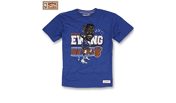 Mitchell & Ness New York Knicks Patrick Ewing caricatura NBA T-Shirt, color , tamaño small: Amazon.es: Deportes y aire libre