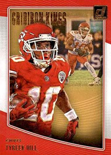 03edc868fbf 2018 Donruss Gridiron Kings  21 Tyreek Hill Chiefs Football Card NM-MT