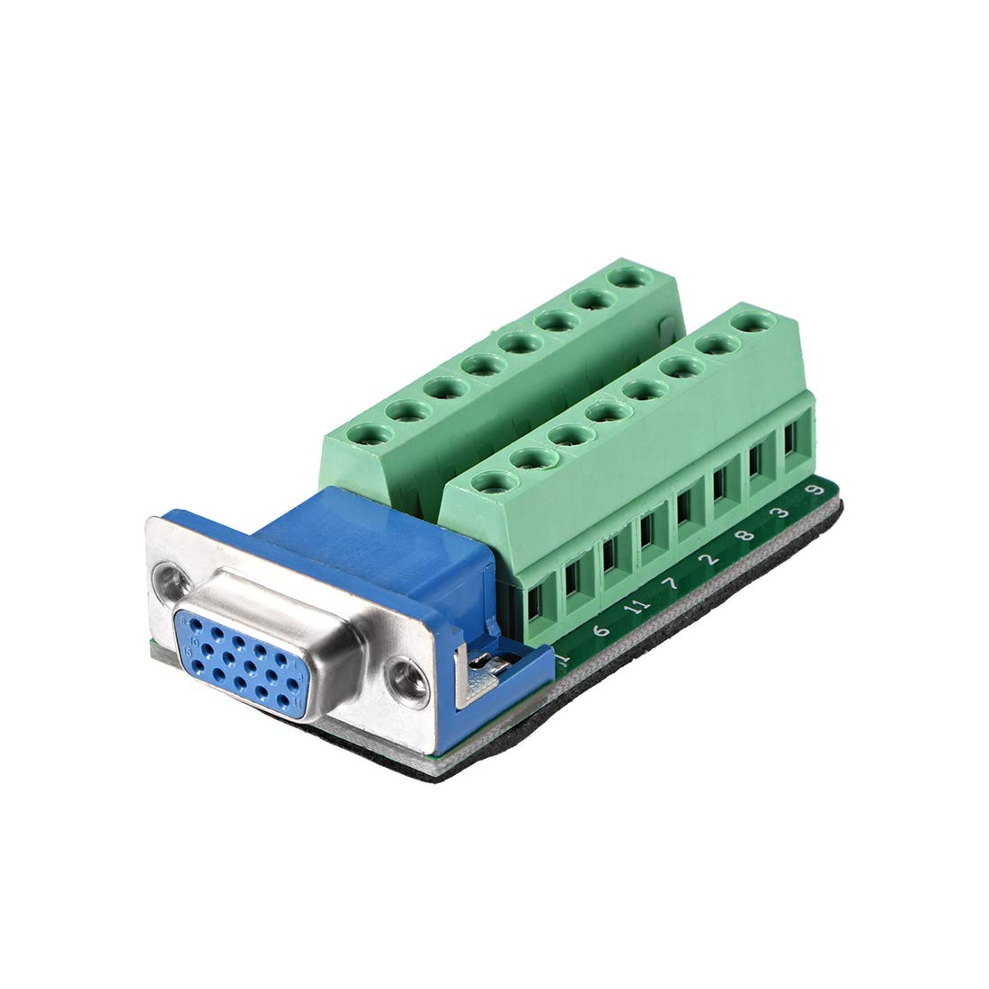 sourcing map D-sub DB9 Breakout Board Connector 9 Pin 2 Row Female Port Solderless Terminal Block Adapter