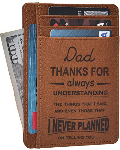 Personalized Gifts for Men and Women - Graduation Best Gifts Fathers Day From Daughter Son Thank You Mothers Day Gift Ideas (Dad Thank you) -