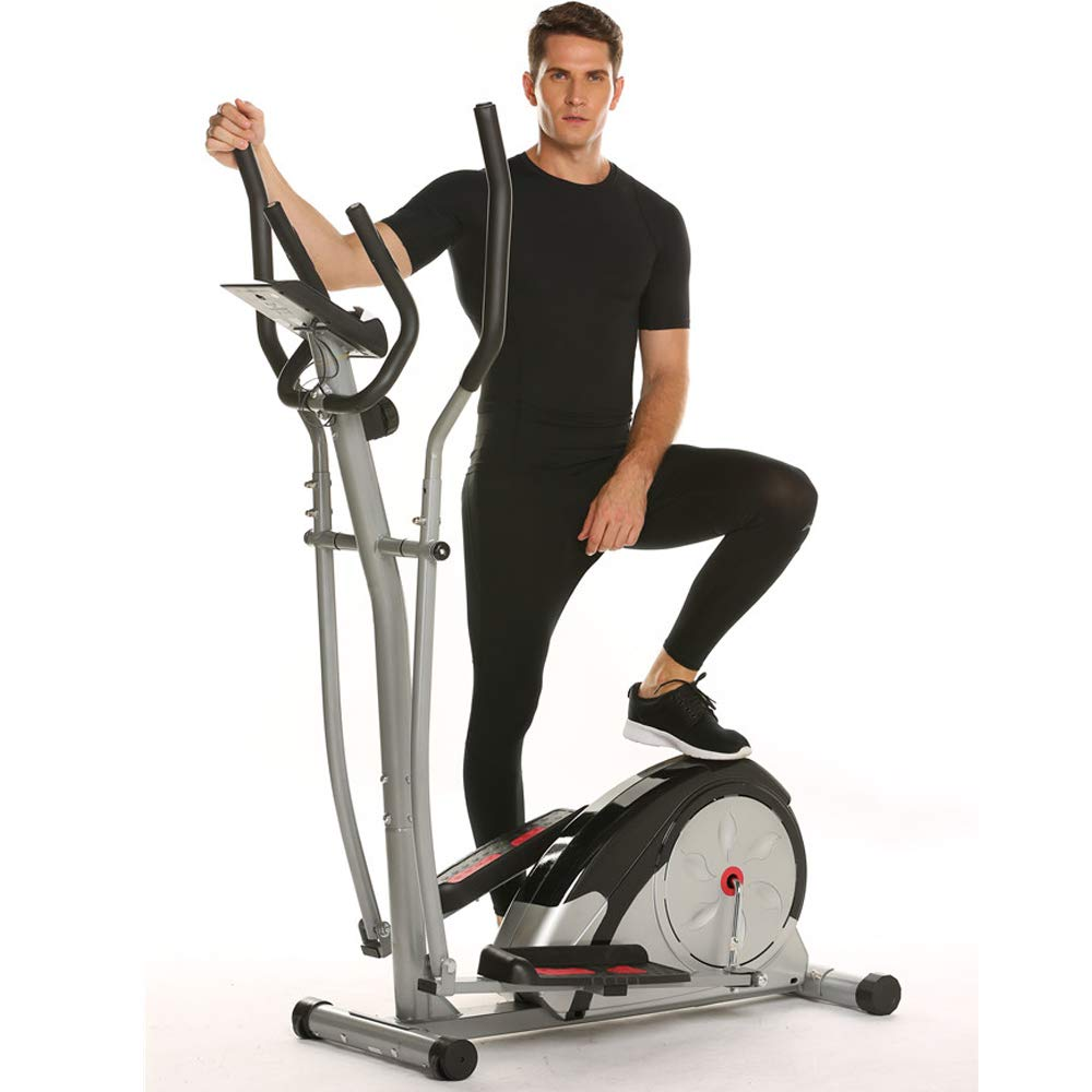 Aceshin Elliptical Machine Trainer Compact Life Fitness Exercise Equipment for Home Workout Offic Gym (Gray) by Aceshin