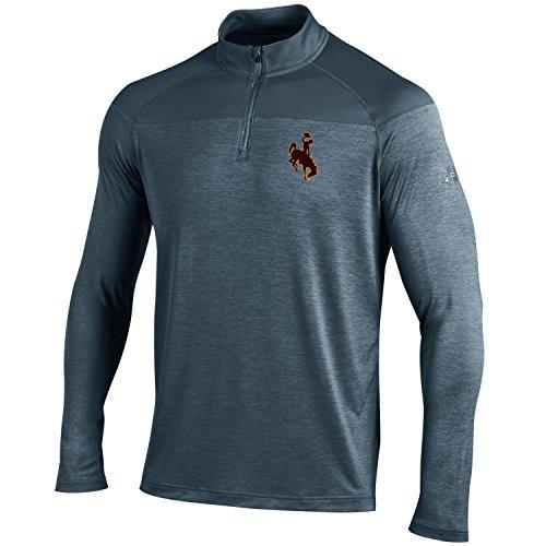 Under Armour NCAA Wyoming Cowboys Men's Tech 1/4 Zip Tee, Small, Stealth Grey