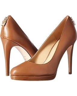 2fc4f30271e8 Michael Kors Womens Antoinette Leather Closed Toe Classic Pumps