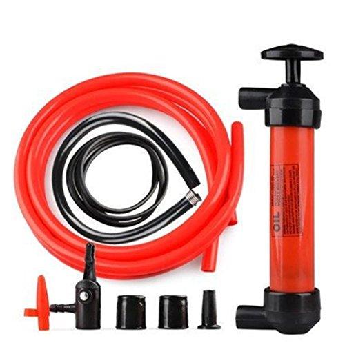 Ecosin Plastic Hand Operated Oil Pump Portable Manual Oil Pump Siphon Tube Car Hose Fuel Gas Extractor Transfer Sucker by Ecosin
