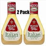Ken's Steak House Italian Dressing & Marinade, 16 Oz (Pack of 2)