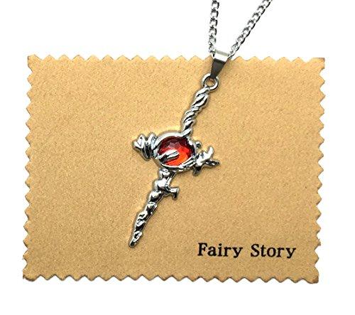 【Fairy Story】 K 赤のクラン 吠舞羅(ホムラ) 周防尊 ダモクレスの剣 モチーフ コスプレ ネックレス 【クロス&箱あり】