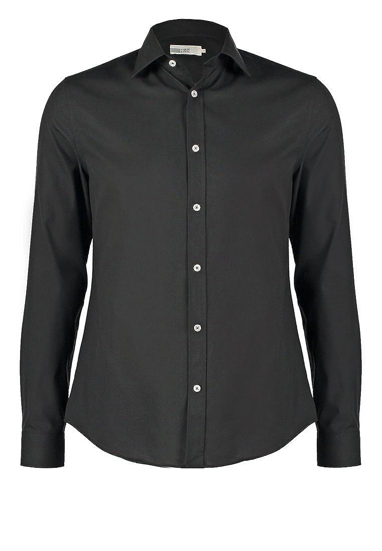 Pier One Camicia da uomo Slim Fit in bianco, blu navy o nero - Camicia formale a manica lunga, no stiro - Camicie eleganti con polsini e bottoni