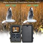 COOLIFE 21MP 1080P HD Caméra de Chasse Caméra de Surveillance Étanche 49 LEDs Grand Angle 125 ° De Vision Nocturne 25m… 8
