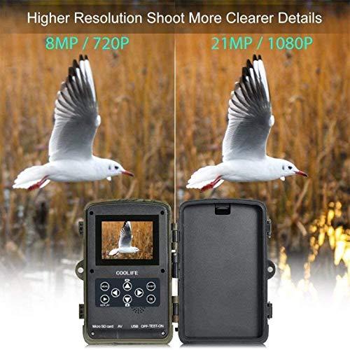 COOLIFE 21MP 1080P HD Caméra de Chasse Caméra de Surveillance Étanche 49 LEDs Grand Angle 125 ° De Vision Nocturne 25m… 3