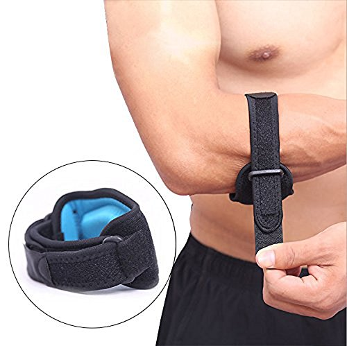 Genmine Tennis Elbow Brace, Golfers Strap with Compression Pad Support for Pain Relief Tendonitis