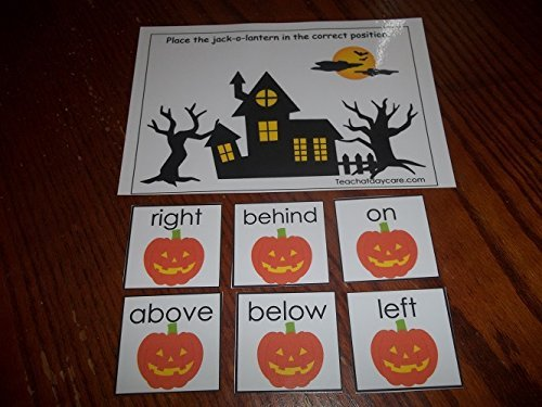 Amazon.com: 4 Pack laminated preschool Halloween themed ...