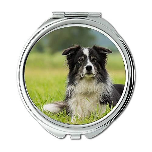 - Yanteng Mirror,Travel Mirror,Border Collie Dog Collie British Sheepdog Border,Pocket Mirror,Portable Mirror