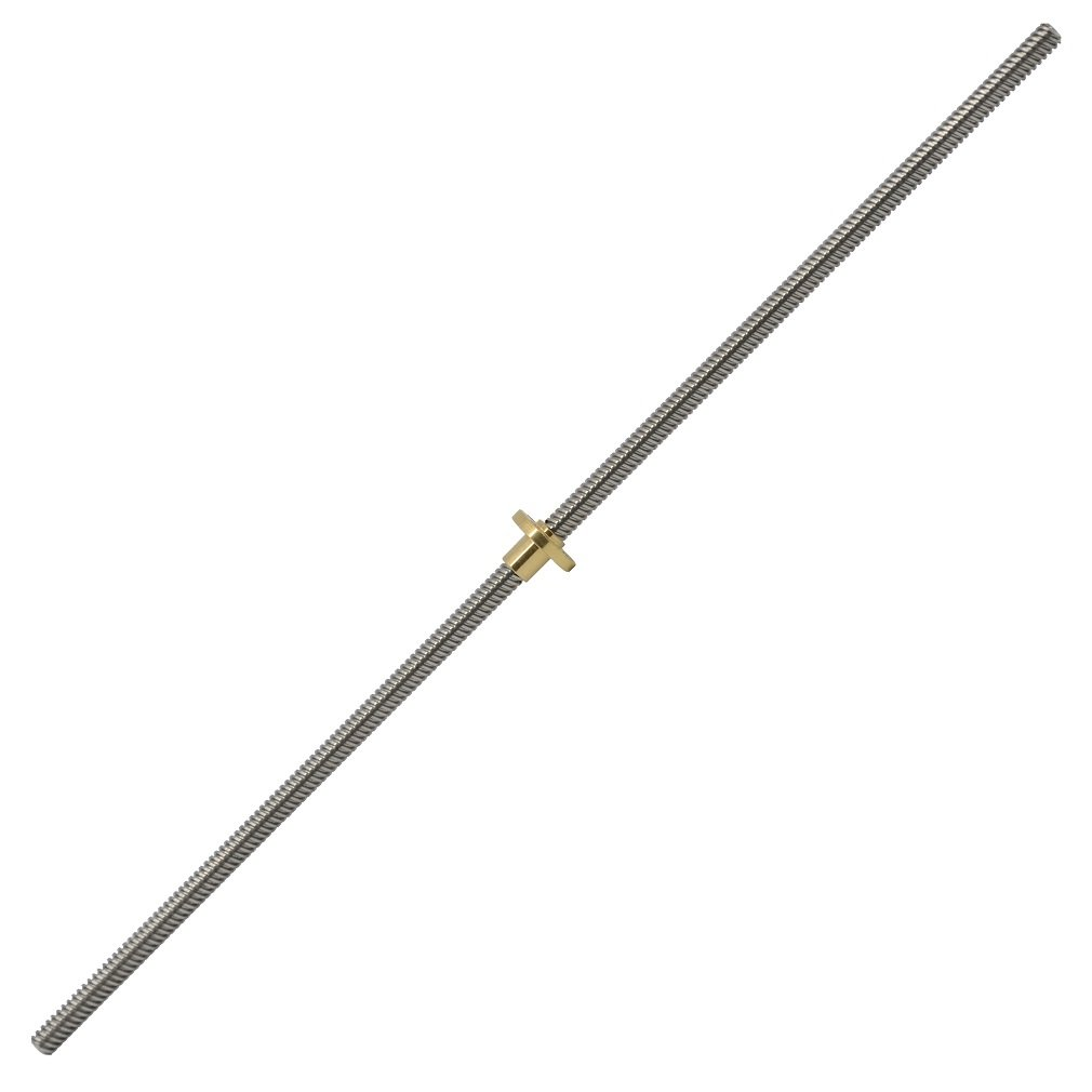 ReliaBot 600mm T8 Lead Screw and Copper Nut (Acme Thread) for 3D Printer Z Axis