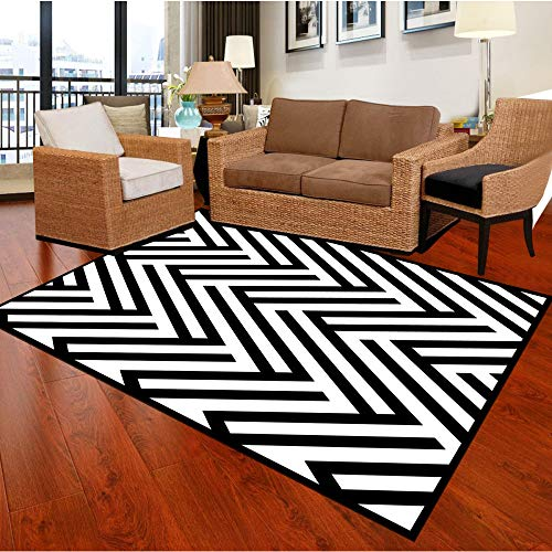 559 Sofa - GSYDDTG Modern White Black Large Carpet for Living Room Geometry Pattern Northern Sofa Tea Table Bedroom Rectangle