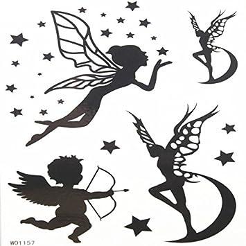 grashine bebé ángel y mariposa Ángel falsos y realista Tatuajes ...