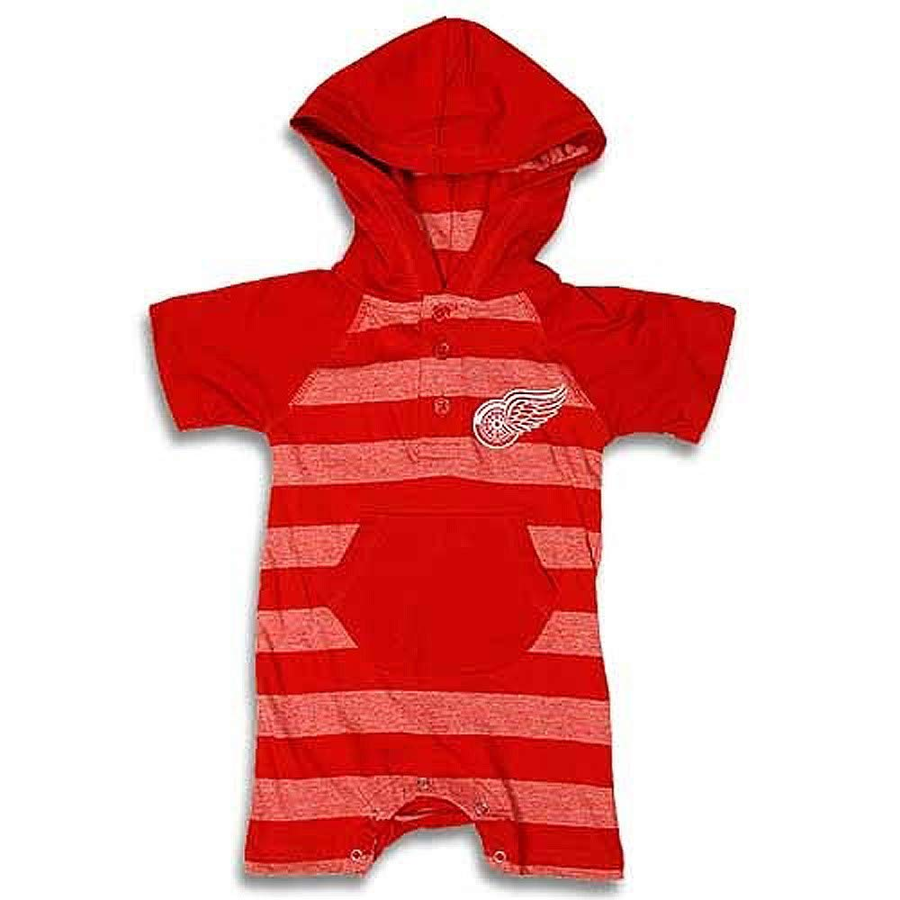 Detroit Red Wings Red Hooded Romper, Infant 24 Months by Detroit Athletic Co
