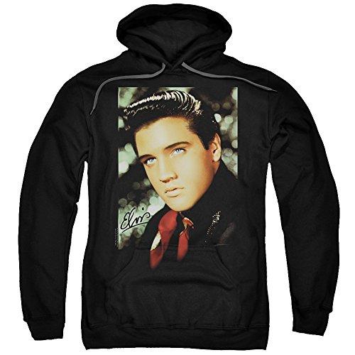 Elvis Presley - Red Scarf Smile - Adult Hoodie Sweatshirt - XL (Elvis Scarves)