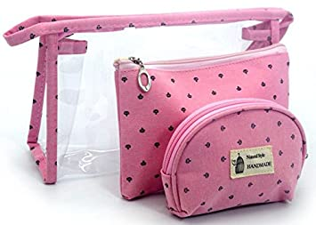 HappyDaily 3 Pack Beautiful and Multifunctional Waterproof Makeup Cases or  Cosmatic Bags or Travel Toiletry Pouch a2d23d080c7f5