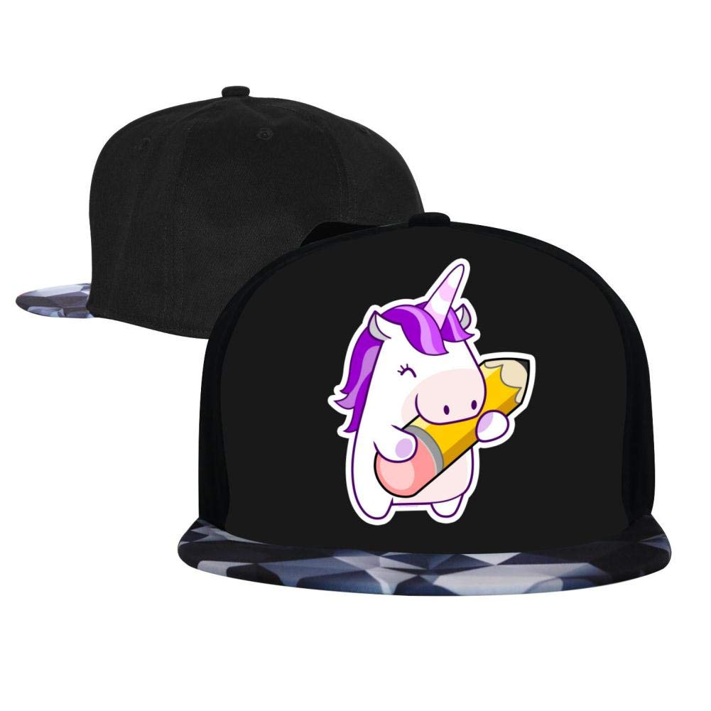 Adjustable Hip Hop Flat-Mouthed Baseball Caps Back to School Unicorn Mens and Womens Trucker Hats