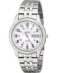 Seiko Mens SNE045 Solar White Dial Watch