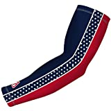 B Driven Sports Compression Arm Sleeve, Pro-Fit Compression Design , Red, Blue Patriot Stripes and Stars Pattern, Adult XS, Many colors and sizes Inc. youth Thru Adult 3X, Sold as 1 SLEEVE