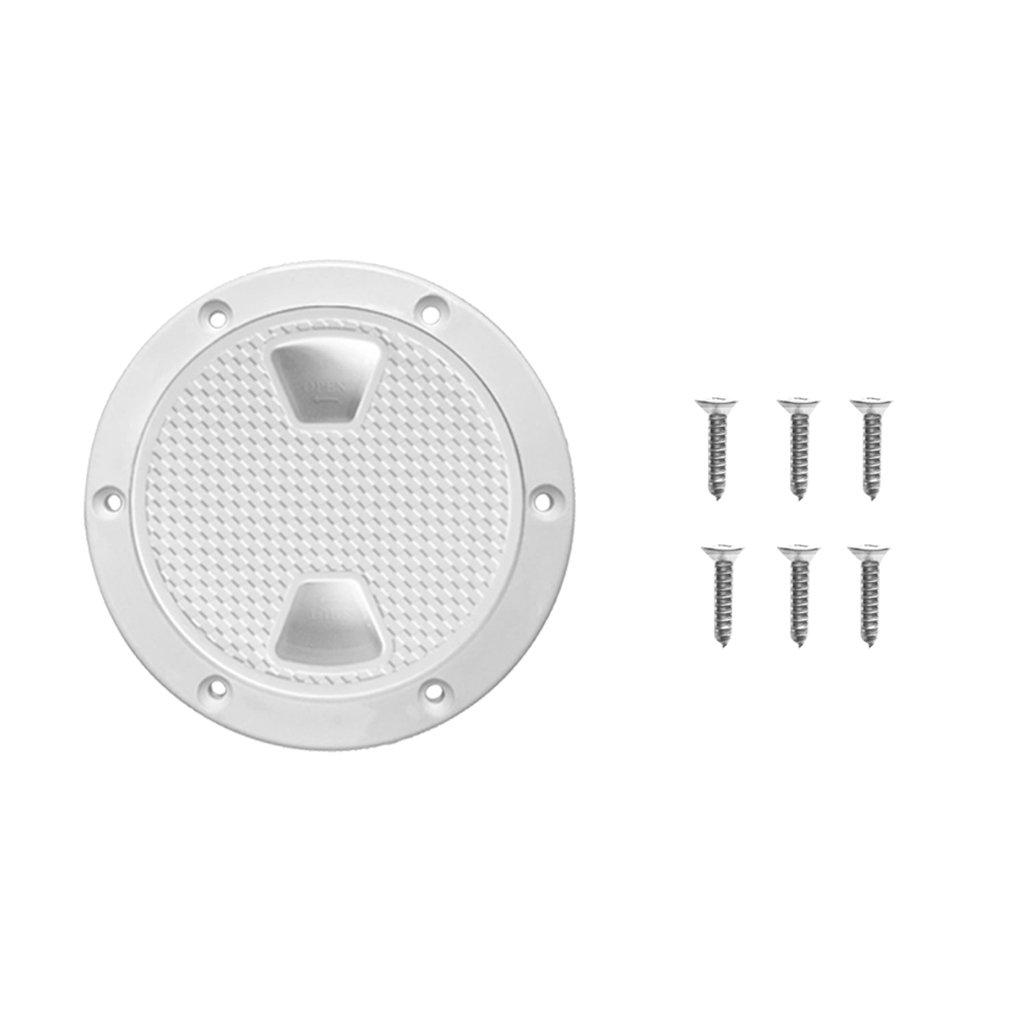 Sharplace Cubierta de Escotilla Placa de Inspección Color Blanco Accesorios para Barco