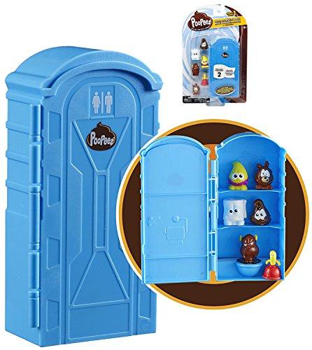 PooPeez Porta Potty Multi Pack Toys With 6 Poopeez Figures (Porta Potty Toy)