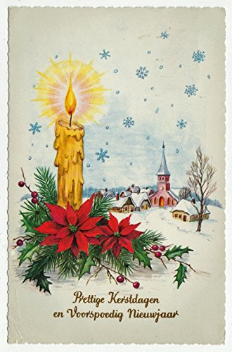 Merry Christmas and Prosperous New Year Vintage Original Postcard #0171 - 1960's