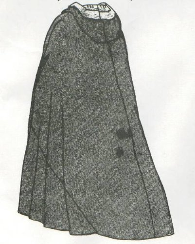 1770's Cloak with hood Pattern]()