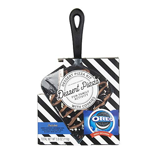 Mini Oreo Cookie Dessert Pizza | Includes Individual-Size Cast Iron Skillet, Oreo Cookies (2), Brownie + Frosting - Pizza Cookie