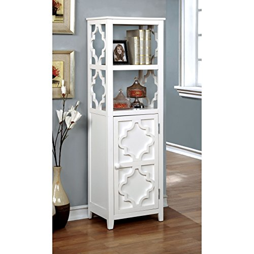 Furniture Of America Mersela Contemporary White Quatrefoil Display Cabinet  By Furniture Of America (Image #