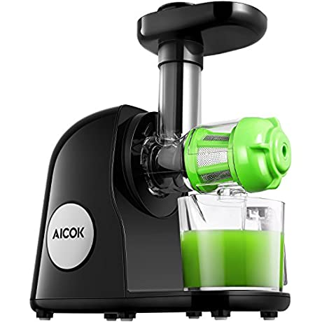 Aicok Juicer Slow Masticating Juicer Extractor Cold Press Juicer Machine Quiet Motor And Reverse Function With Juice Jug And Brush To Clean Conveniently High Nutrient Fruit And Vegetable Juice