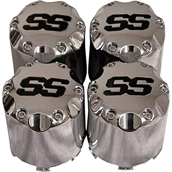 Amazon Com 3g Ss Chrome Center Caps Snap On Style For 8 Golf Cart Wheels Sports Outdoors