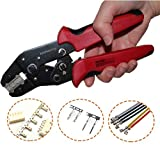 Knoweasy Pin Crimper for XH2.0mm XH2.54mm XH3.96mm Dupont D-Sub Terminals JST Pin Crimper, AWG 28-20
