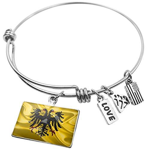 Expandable Wire Bangle Bracelet The Holy Roman Empire (after 1400) 3D Flag - NEONBLOND (Snake Roman Bracelets)