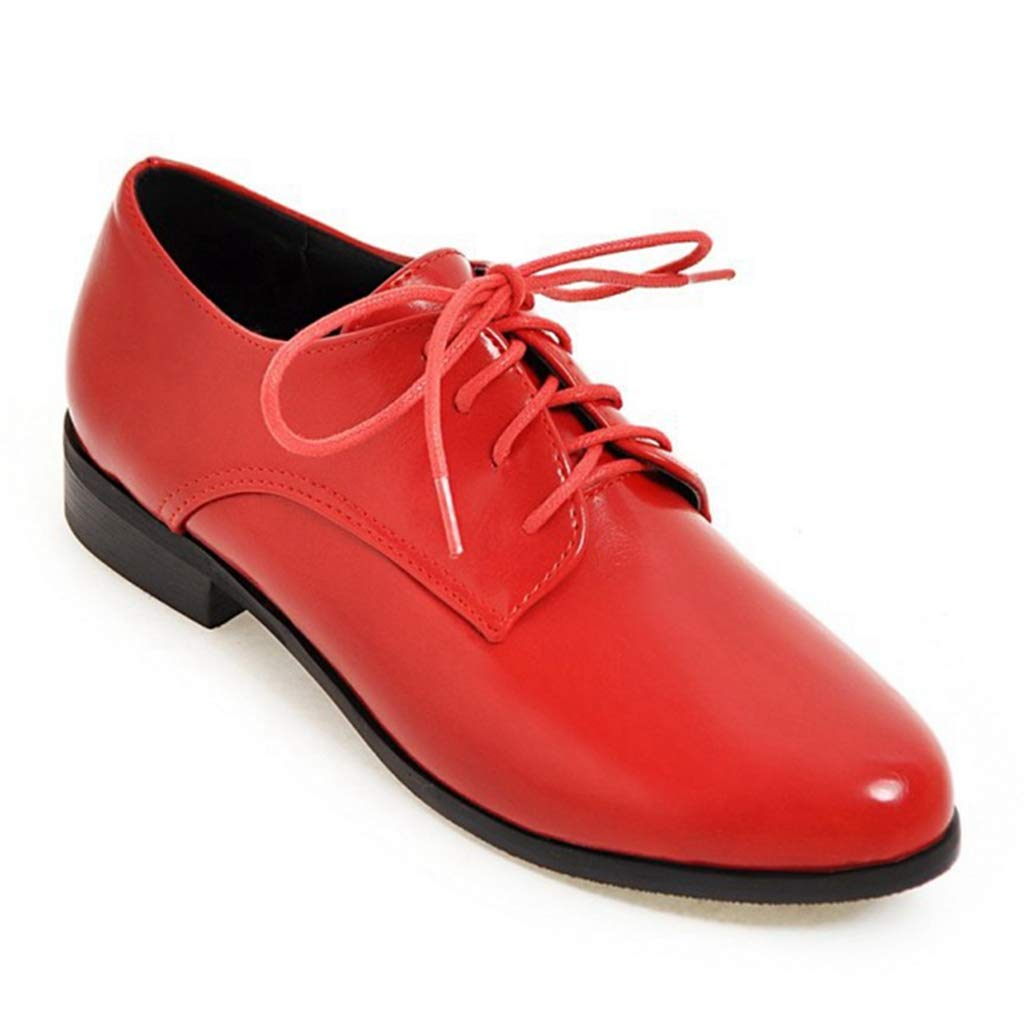 Women¡¯s Perforated Lace-up Slip-On Comfortable Pointy Toe Oxford Low Heel Vintage Oxfords Shoes
