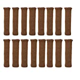 TEKEFT 16PCS Chair Socks, Knitted Elastic Furniture Socks Wood Floor Furniture Chair Leg Protector Covers Caps Set for Avoid Scratches,Brown