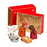 Ten Thousand Villages Small Ceramic And Paper Nativity Set 'Matchbox Nativity'