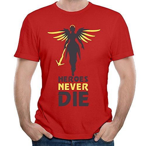 Men's Heroes Never Die Short-Sleeve T-shirt Red M - Pro Model Goggle