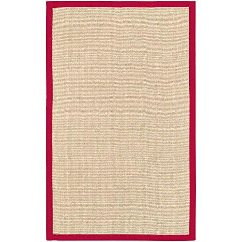 Surya Soho SOHO RED Natural Fiber Hand Woven 100% Natural Jute Tan 8' x 10' Area Rug (Soho Jute Surya)