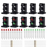 #4: Evemodel JTD19 10 Sets Target Faces with LEDs Railway Dwarf Signal HO OO Scale 2 Aspects