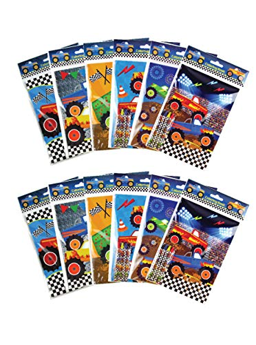 Monster Truck Coloring Books with Crayons Party Favors, Set of 12]()