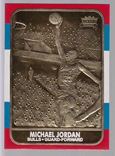 Michael Jordan 1998 Fleer Limited Edition 1986 Rookie 23KT Gold Card!