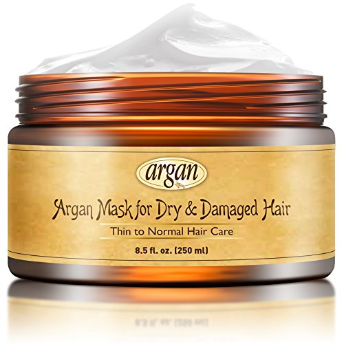 Deep Conditioner Mask for Dry Damaged Hair - Advanced Thin Fine Hair Care Moroccan Argan Masque 8.5 oz – Hair Conditioning Restorative Nourishment