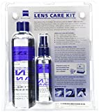 Zeiss Lens Care Kit - 8oz Lens Cleaner Refill, 2oz Refillable Lens Cleaner Spray, 2 Microfiber Cloth, 10 Individually Wrapped Cleaning Wipes, Keychain Screwdriver, 4 Screws