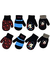 Boys 4 Pack Mitten or Glove Set : Mickey Mouse, Cars Lighting McQueen (Age 2-7)