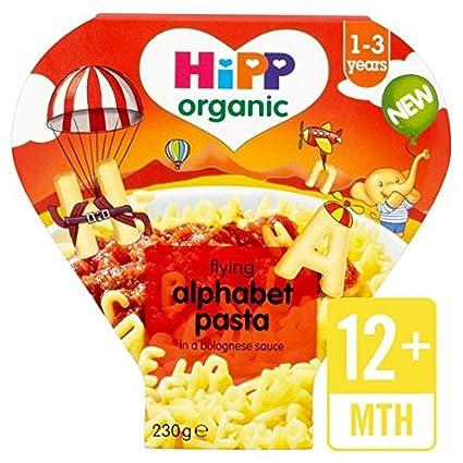 HiPP orgánicos del alfabeto formas de pasta con salsa boloñesa 230g